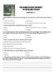 English Worksheets: Edward Toulane Ch 7-11