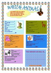 English Worksheets: WHICH ANIMAL?