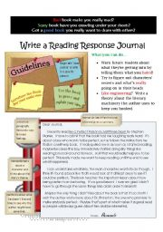 English Worksheets: Writing a Response Journal