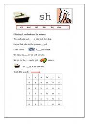 English Worksheets: sh diagraph