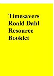 Timesavers Roald Dahl Resource Booklet