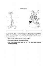 English Worksheets: Desert island
