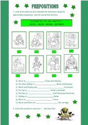 English Worksheets: Where is Shrek?