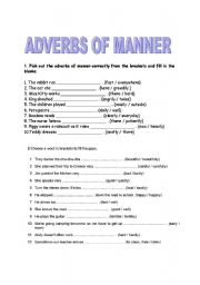 adverbs of manner esl worksheet by aytul88. Black Bedroom Furniture Sets. Home Design Ideas