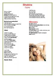 English Worksheet: Song Activity Shakira