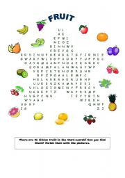 Fruit Word-search!
