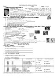 English Worksheets: VERB WAS WERE IN AFFIRNATIVE, NEGATIVE AND QUESTIONS