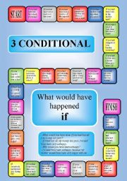 ... worksheets > Board games > 3 conditional - a boardgame (editable