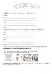 English worksheet: Friends!