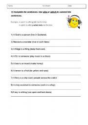 English Worksheets: link sentences