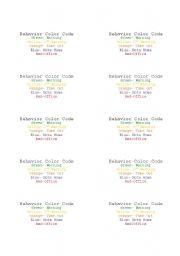 English Worksheets: behavior labels