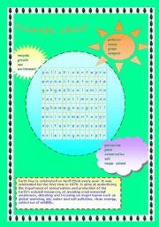 English Worksheet: earth day