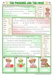 English Worksheet: Fairy Tales/ Stories (11): The Princess and the Frog