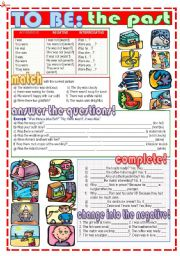 English Worksheets: To BE: THE PAST