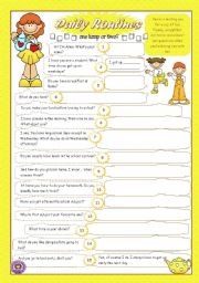 English Worksheets: DAILY ROUTINES (3)
