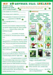 English Worksheet: My Countries File: Ireland