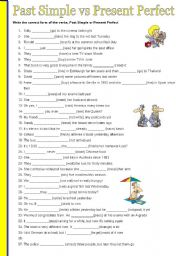English Worksheet: PAST SIMPLE vs PRESENT PERFECT