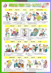 English Worksheets: Phrasal Verbs (Twelfth series). Exercises (Part 2/3). Key included!!!