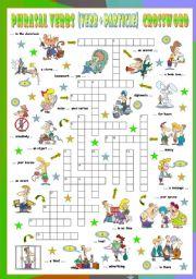 English Worksheet: Phrasal Verbs (Twelfth series). Crossword (Part 3/3)