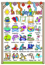 IN THE PLAYGROUND - PICTIONARY