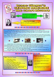 English Worksheet: Sewing machine - the short history & key (fully editable)