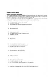 Chemistry: a Volatile History Video worksheet