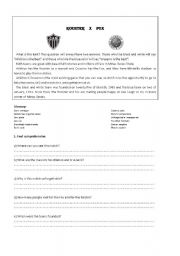 English Worksheets: Rooster X Fox