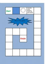English worksheet: board game template