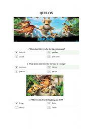 Quiz on Ice Age 3