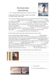 English Worksheet: Movie: The Water Horse