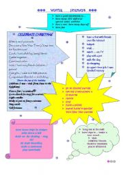 English Worksheet: Winter holidays activities