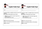 English Worksheets: English Peddy Paper