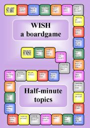 Wish - a boardgame (editable)