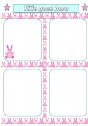 English worksheet: bunny template (16.04.10)