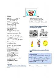 English Worksheets: cry by oceana