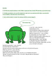 English Worksheets: The Frog Family