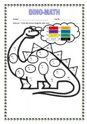 DINO-MATH - ESL worksheet by Jairzhinio