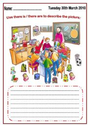 English Worksheets: There is, there are