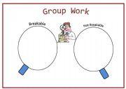 English Worksheets: Breakable VS Unbreakable