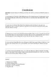 English Worksheets: Conclusions