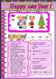 English Worksheet: Happy new year