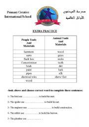 English Worksheets: where do animal live in?