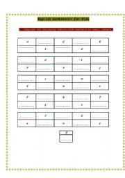 English Worksheets: English for kids