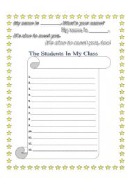 English Worksheets: It�s Nice to Meet You, Too!