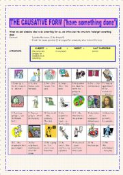English Worksheet: The Causative Form (�have something done�)