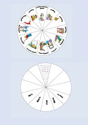 English Worksheets: Action Wheel