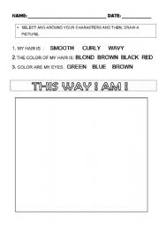 English Worksheets: PORTRAIT