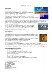 English Worksheets: Oceania