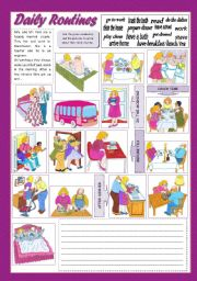 English Worksheets: DAILY ROUTINES (5)