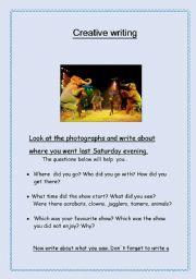 English Worksheets: guided writing